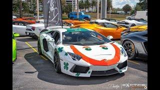 World's Best Supercars - Hypercars drive by Exotics & Espresso at Lamborghini Miami Prestige Imports