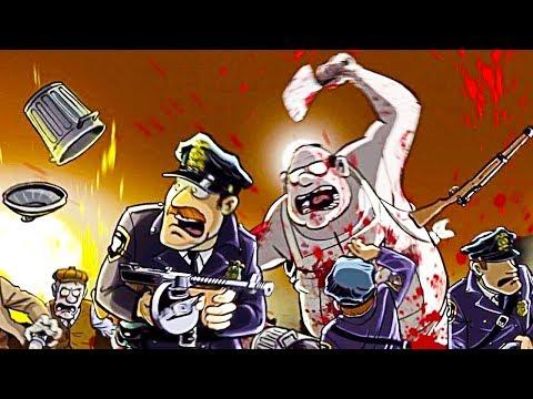 ПУШКИ БОМБЫ ЗОМБАКИ что происходит в этом городе прохождение мультик игры Guns, Gore & Cannoli
