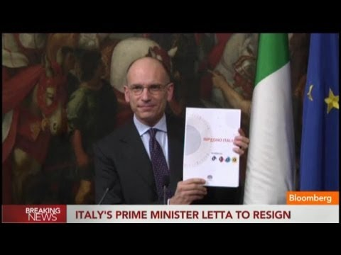 Italian PM Enrico Letta to Resign After Power Struggle