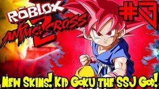 NEW UPDATE: SKINS! KID GOKU THE SUPER SAIYAN GOD! | Roblox: Anime Cross 2 - Episode 3