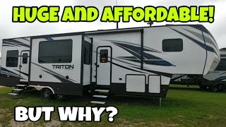 HUGE and AFFORDABLE Toy Hauler RV from Voltage!