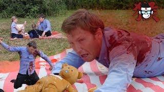 """BEAR ATTACKS FAMILY"" -""Teddy bears picnic Planet of the teddy"