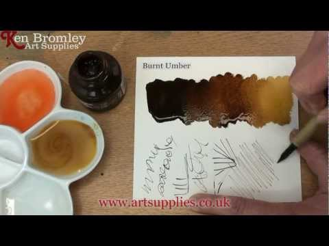 Daler Rowney FW Ink Burnt Umber 223