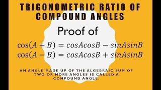 Trigonometric ratio of compound angle | Cos(A+B) proof Hindi easy | Kamaldheeriya