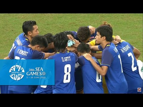 Football Men's Final THA vs MYA Full Match Highlights| 28th SEA Games Singapore 2015