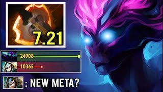 NEW WAY TO FARM FAST Battle Fury Spectre Hard Lane Abyssal Top China Intense Game 7.21 Dota 2