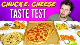 I tried the whole Chuck E. Cheese's menu... omg