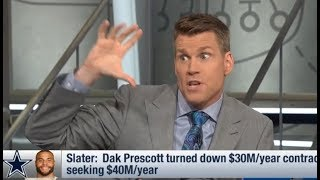 Dak Prescott turned down $30M/year contract; seeking $40M/year