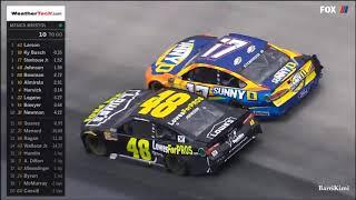 Monster Energy NASCAR Cup Series Bristol 2018 Last 22 Laps Finish