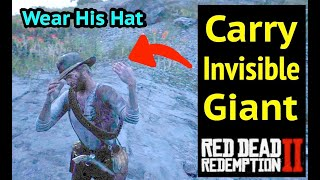 Carry Invisible Cave Giant and Wear His Hat in Red Dead Redemption 2 (RDR2): Invisible Cave Giant