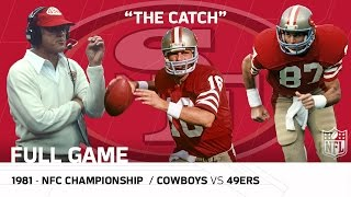 """""""The Catch"""" Cowboys vs. 49ers 1981 NFC Championship 