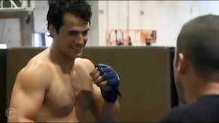 Henry Cavill training for Superman and Justice League