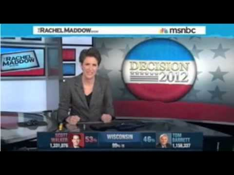 A sad night for MSNBC: Video montage of Wisconsin recall race coverage