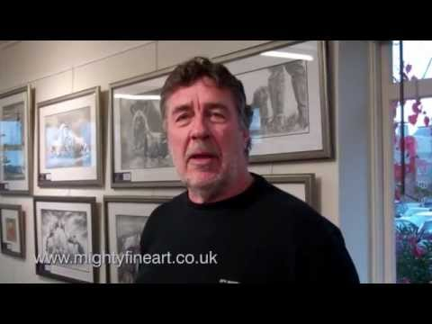Wildlife Artist Peter Williams Interview at Snape Maltings in Suffolk