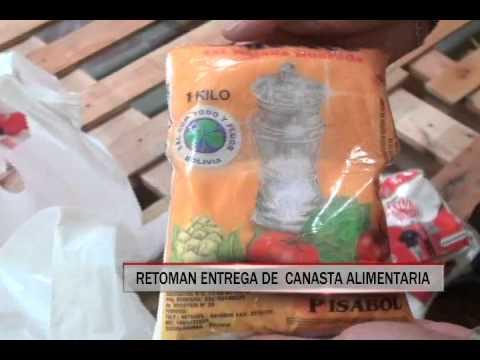 16/09/2014 - 13:02 RETOMAN ENTREGA DE  CANASTA ALIMENTARIA