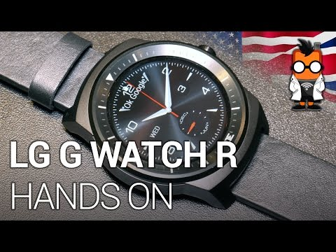 LG G Watch R hands on at IFA 2014 - round Smartwatch with Android Wear [ENGLISH]