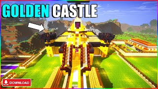 I converted techno gamerz minecraft castle into gold | Minecraft hindi gameplay