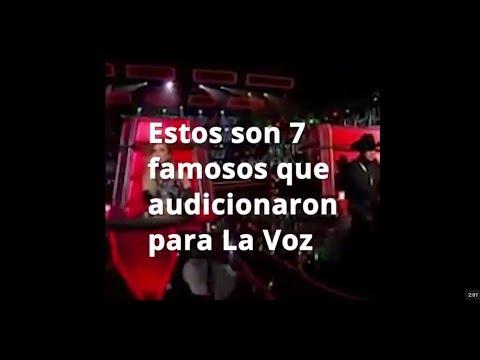 9 Cantantes famosos que audicionaron para el programa La Voz. ¡Varios de ellos fueron rechazados!