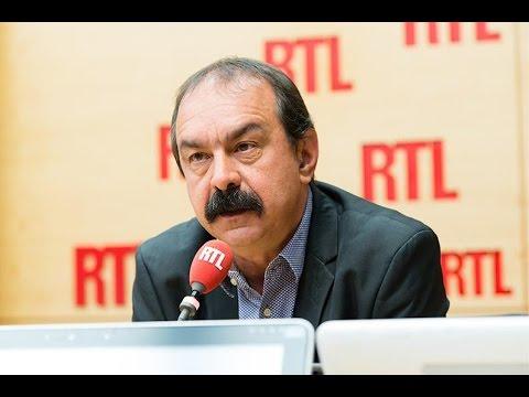"""Philippe Martinez accuse Manuel Valls de """"bomber le torse"""" et de """"gonfler les muscles"""""""