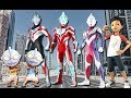 Wrong superheroes Upin Ipin Adit Sapo Jarwo ultraman perform dancing funny Finger Family Song