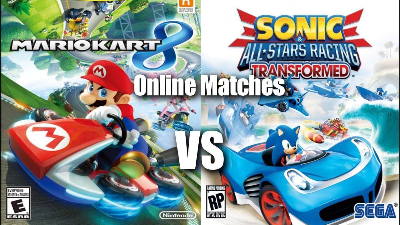 Mario Kart 8 Vs Sonic Racing Transformed Online Matches
