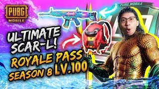 SCAR L ULTIMATE!! ROYALE PASS SEASON 8 LV 100! - PUBG Mobile Indonesia