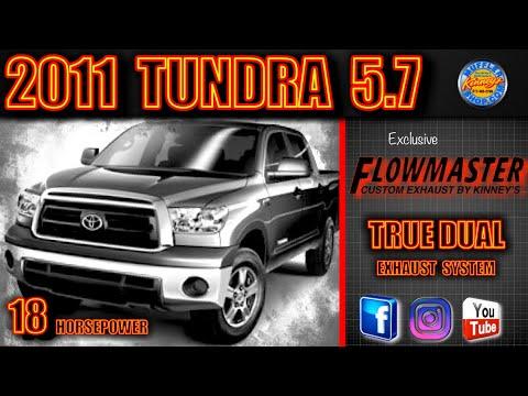 2011 Toyota Tundra 5 7 Custom Flowmaster True Dual System