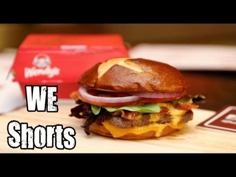 WE Shorts - Wendy's Pretzel Bacon Cheeseburger