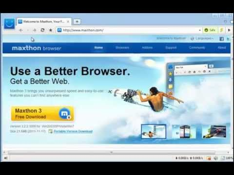 Maxthon 3 Browser: How to Customize User Interface