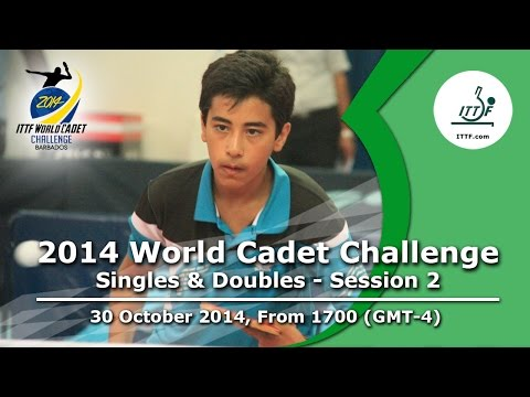 2014 ITTF World Cadet Challenge – Singles Groups and Doubles – Session 2