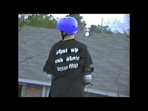 Dan MacFarlane 1990 Claus to Tail on Albert's Vert ramp - Finger flip to tail