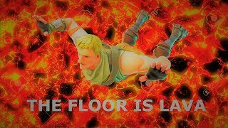 FLOOR IS LAVA CHALLENGE IN TILTED TOWERS! (Im Not Good) Fortnite Battle Royale