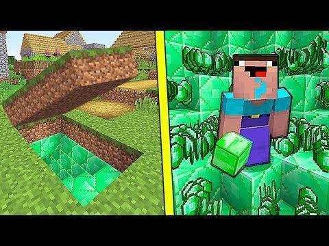 НУБ НАШЕЛ СЕКРЕТНУЮ БАЗУ из ИЗУМРУДОВ В Майнкрафте! Minecraft Мультики Майнкрафт троллинг Нуб и Про