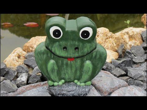 03:51 Dekoration Für Garten . Betonfiguren Aus Backformen Selber Machen .  Frosch .