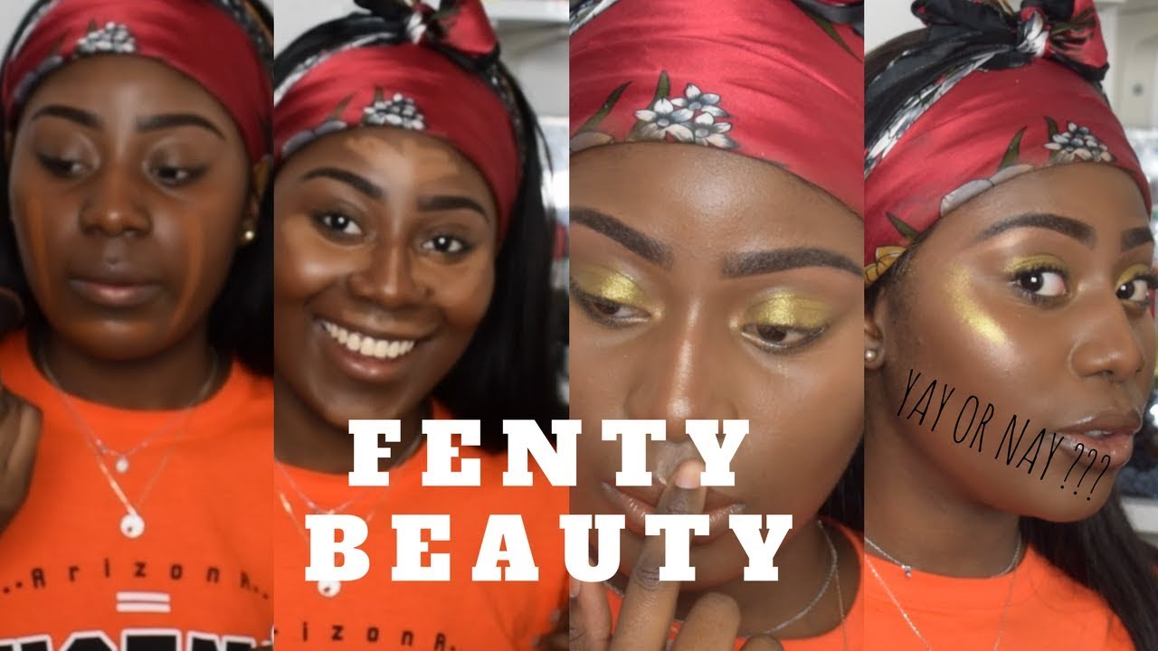 TRYING FULL FACE OF RIHANNA FENTY BEAUTY HONEST REVIEW FOR DARK SKIN.