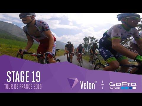 Tour de France Stage 19 - On Bike Highlights. Sun, Rain & Crashes!