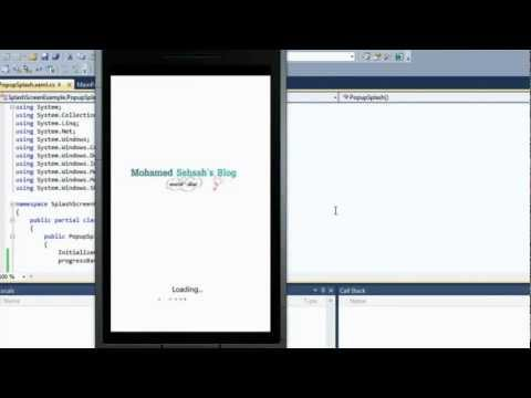 (Silverlight) Splash Screen Tutorial For Windows Phone 7