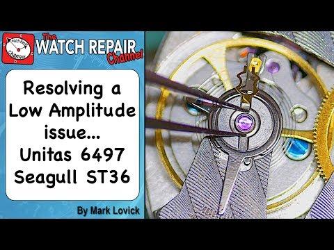 Unitas 6497 Low Amplitude performance problem Seagull ST36 ST3600 Watch Repair Lesson