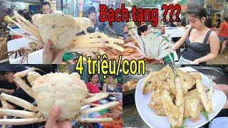 Xuất hiện Cua Bạch Tạng cực hiếm và đắt ở vỉa hè Sài Gòn | Ăn cua Tuyết