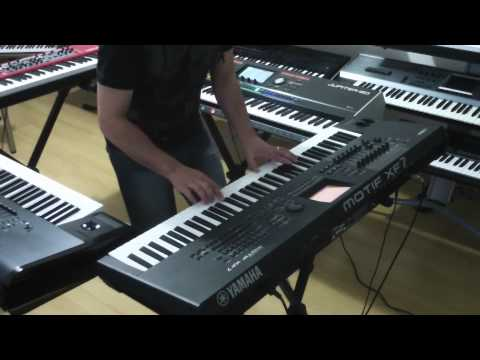 YAMAHA MOTIF XF . KORG KRONOS . NORD STAGE 2 . ROLAND JUPITER 80 . THE FOUR BEST KEYBOARDS