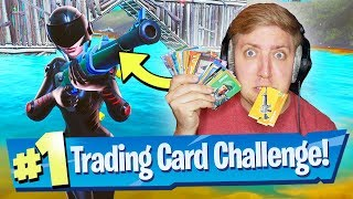 Fortnite Trading Cards decide my Loadout! (Challenge)
