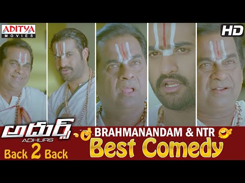 Brahmanandam Ntr Best Comedy Scence Back To Back In Adhurs Movie  02 video