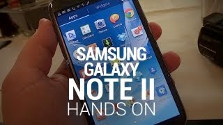 Samsung Galaxy Note II Hands On