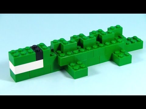 How To Build Lego ALLIGATOR - 6177 LEGO® Basic Bricks Deluxe Projects for Kids