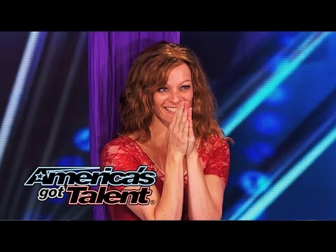 Laura Dasi: Mom With Alopecia Performs Beautiful Aerial Art - America's Got Talent 2014 video