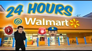 👮🏼🚨COPS 24 HOUR OVERNIGHT WALMART TOY FORT GONE WRONG ⏰| CAUGHT BY OVERNIGHT SECURITY KICKED OUT