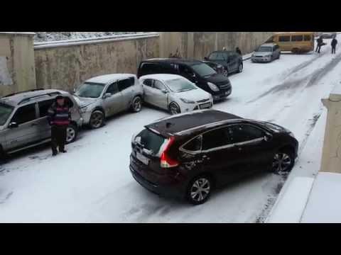 Гололёд в Томске. Кузнечный взвоз.