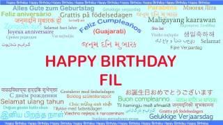 Fil   Languages Idiomas - Happy Birthday