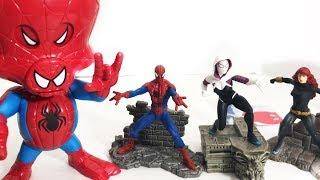 Spider-Man Into The SpiderVerse Spider-HAM GWEN TOYS!