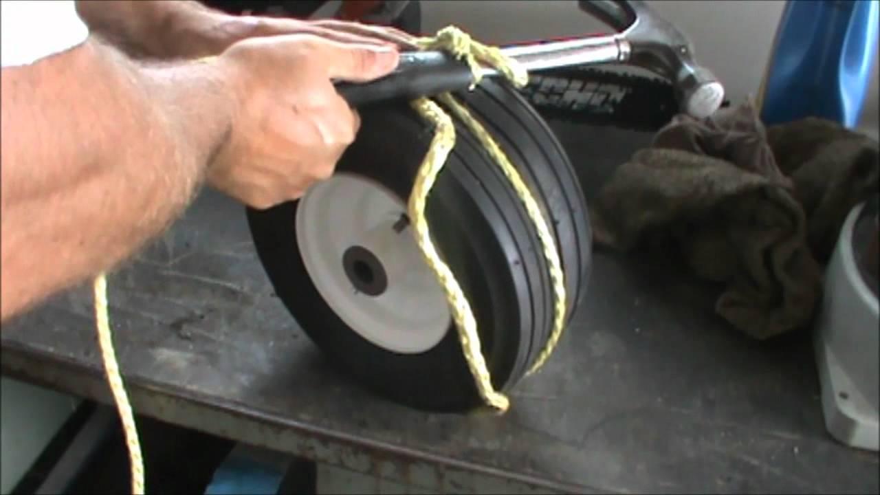 How To Fix A Flat Wheelbarrow Tire Youtube
